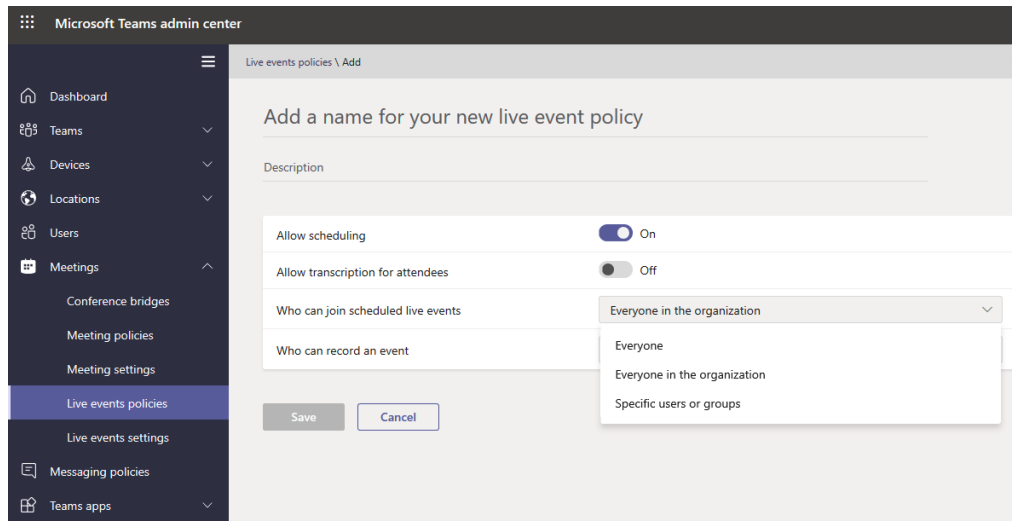 Microsoft Teams admin center